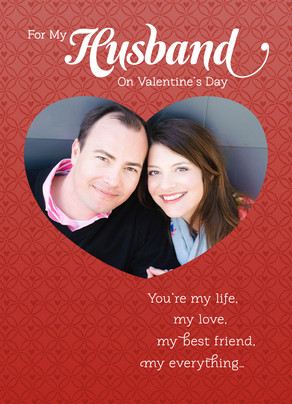 Husband Life Love 5x7 Folded Card