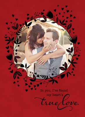 Heart's True Love 5x7 Folded Card