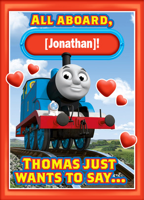 Thomas All Aboard 5x7 Folded Card