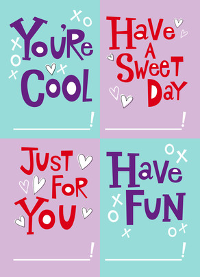 Cool School Valentine 5x7 Flat Card