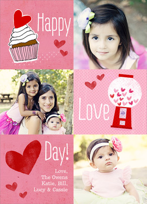 Love Day Sweets 5x7 Flat Card