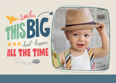Smiles This Big 7x5 Folded Card
