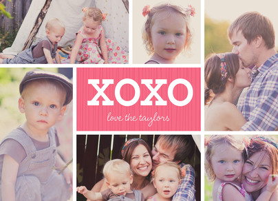 Xoxo Photo Collage 7x5 Flat Card