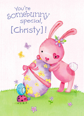 Somebunny Special 5x7 Folded Card