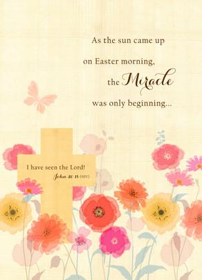 Flower Field Easter 5x7 Folded Card
