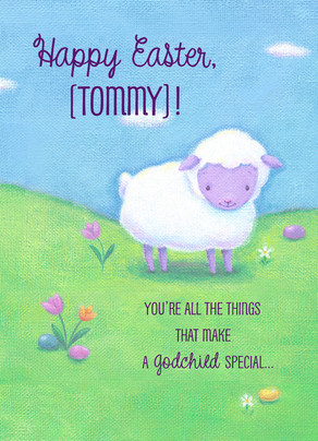 Little Lamb Easter 5x7 Folded Card