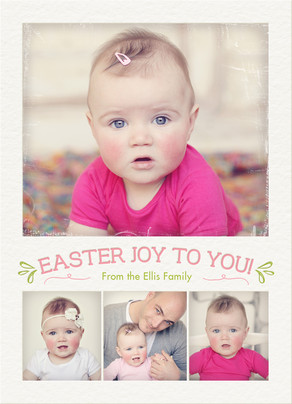 Easter Photo Joy 5x7 Flat Card