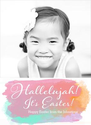 Hallelujah Easter 5x7 Flat Card
