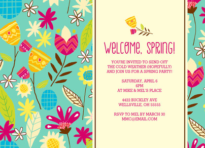 Welcome Spring 7x5 Flat Card