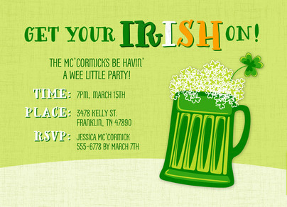 Irish Beer 7x5 Flat Card