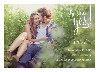 Said Yes Date 7x5 Flat Card