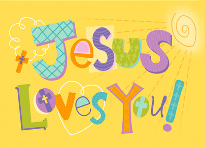 Jesus Loves You 7x5 Folded Card