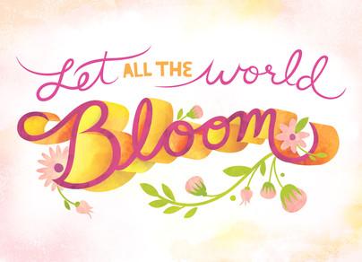 World in Bloom 7x5 Folded Card