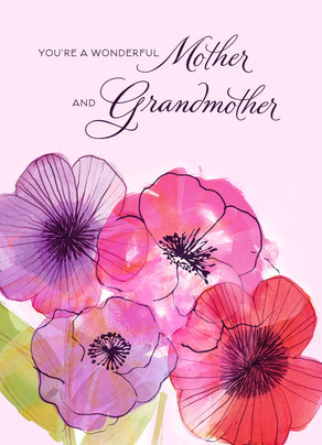 Mother and Grandmother Flowers 5x7 Folded Card