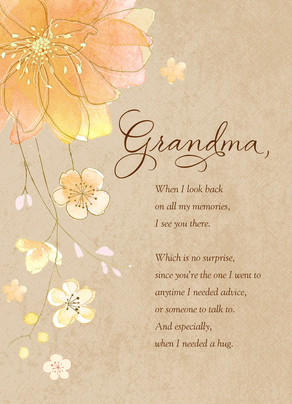 For a Grandma Who's Always There 5x7 Folded Card