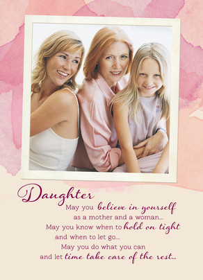 Mother's Day Photo for Daughter 5x7 Folded Card