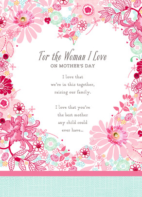For the Woman I Love 5x7 Folded Card