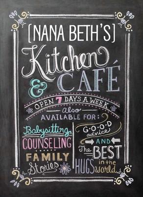 Grandma's Kitchen and Café 5x7 Folded Card