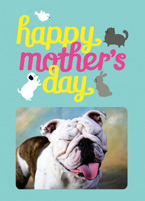 Four-legged Mom's Day Wish 5x7 Folded Card