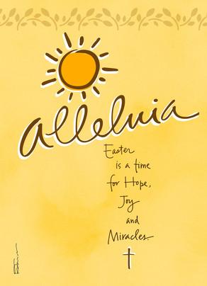 Sunshine Alleluia 5x7 Folded Card