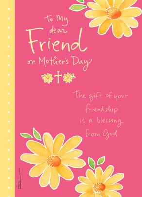 A friend and a blessing mothers day card cardstore a friend and a blessing 5x7 folded card m4hsunfo