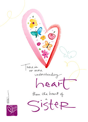 The Heart of a Sister 5x7 Folded Card