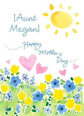 Happy Mother's Day Aunt 5x7 Folded Card
