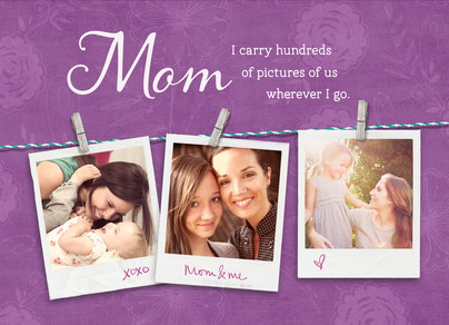 Pictures of Mom 7x5 Folded Card