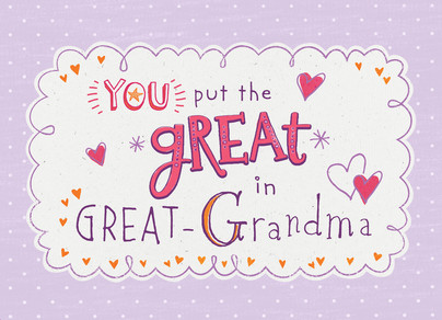 GREAT Grandma 7x5 Folded Card