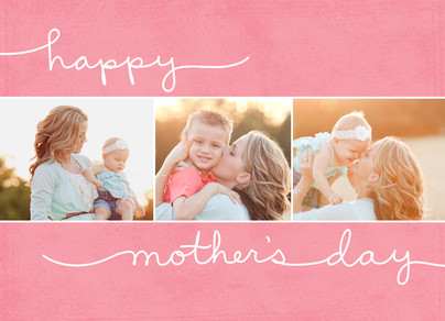 Three Mom's Day Photos 7x5 Folded Card