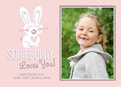 Somebunny Loves You Photo 7x5 Flat Card