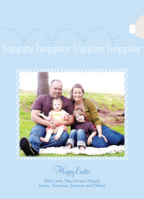 Hippity Hoppity Easter Photo 5x7 Flat Card