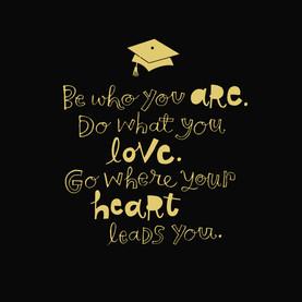 Grad Gold Lettering On Black College Graduation Card Cardstore