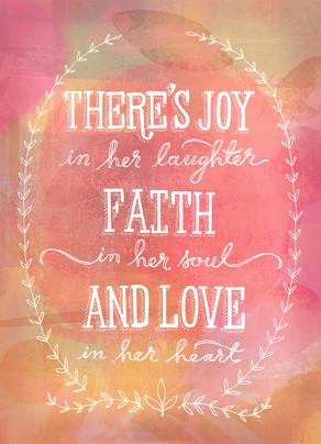 A Mother's Joy, Faith and Love 5x7 Folded Card