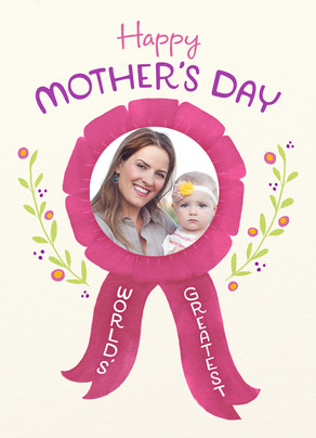 Mother's Day Ribbon 5x7 Folded Card