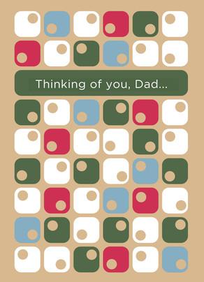 Modern Father's Day Pattern 5x7 Folded Card