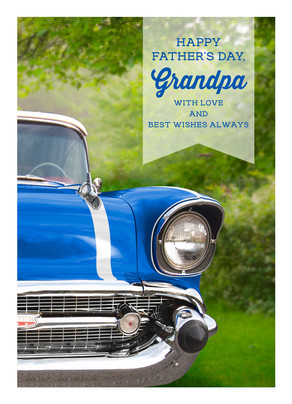 Classic Car Grandpa 5x7 Folded Card