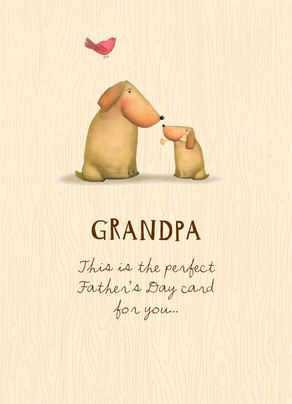 Cute Grandpa Dog 5x7 Folded Card