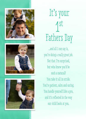 First Father's Day Photos Father's Day Card | Cardstore