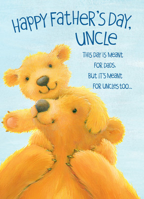 fathers day uncle bears 5x7 folded card