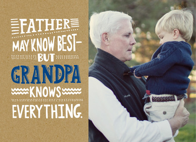 Super Smart Grandpa Photo 7x5 Folded Card