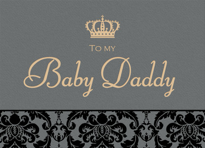 Baby Daddy Day 7x5 Folded Card