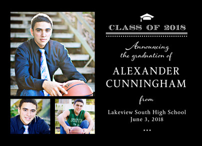 Formal Grad Announcement Horizontal 7x5 Flat Card