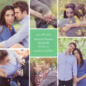 Multi-Photo Save-the-date 4.75x4.75 Flat