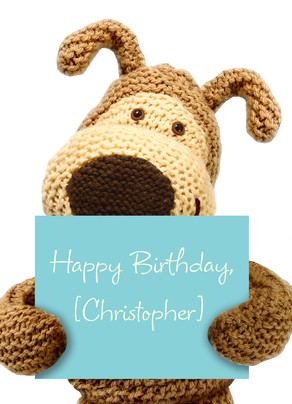 Boofle Birthday Sign 5x7 Folded Card