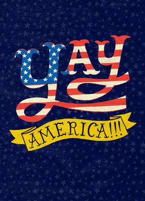 Yay America! 5x7 Folded Card