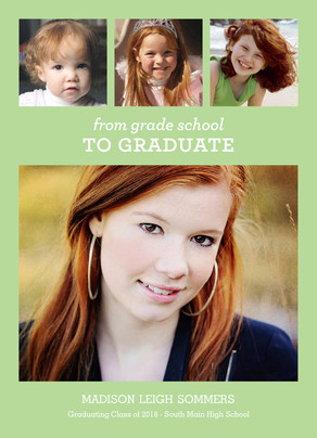 Green Multi-photo Grad 5x7 Flat Card