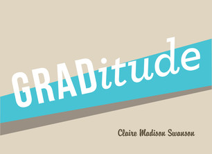 Graphic Blue GRADitude 5.25x3.75 Folded Card