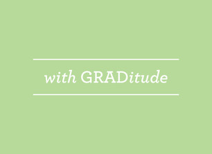 Green GRADitude 5.25x3.75 Folded Card