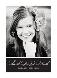 Script Grad Thank You 3.75x5.25 Folded Card